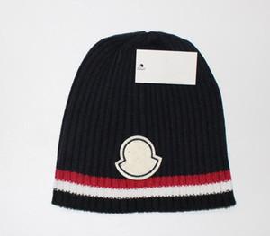 New Frankreich Mode Herren Designer Hüte Mütze Wintermütze gestrickt Wollmütze und Samtkappe skullies Dickere Maske Fringe Beanies Hüte manv