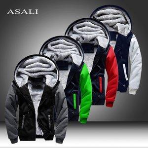 Bomber Parkas Men 2020 New Brand Femme Cotton Winter Thick Warm Fleece Zipper Coat for Mens Tracksuit Male Hoodies Jacket