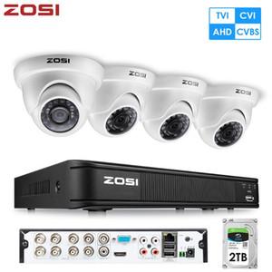 أطقم كاميرا لاسلكية Zosi 8 قناة HD 1080P CCTV الأمن نظام الفيديو HD-TVI DVR كيت مسجل مع مرشح IR للماء 2MP قبة