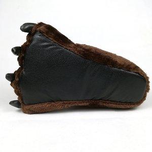 Fayuekey Весна зима дома теплая лапы плюшевые термические хлопчатобумажные мягкие смешные животные рождественские когтя тапочки спальня обувь Y200424
