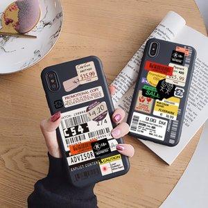 Samsung Galaxy A21S A50 A70 A30 A40 A10 A20E A71 A51 A12 A42 A7 A8 A9 A6 Artı 2018 M30S Lüks Damga Etiket Barkod Yumuşak Kılıf