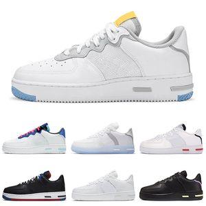 Hotsale 1 React Right Boots Triple White Chaussures Wolf Grey Light Bone USA женские мужские кроссовки на открытом воздухе спортивные кроссовки платформы 36-45