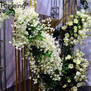 Campanula artificial Flores de seda Bellas de Bellflower Boda Decoración para el hogar Flores Artificiales Para Decoracion Hogar