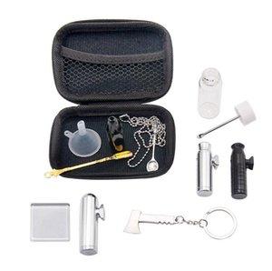Портативные Табачные сумки Наборы Хранение Наборы для металла Пули Snuff Бутылки фильтра Кубок стекла Fume Tank Set HWC2642