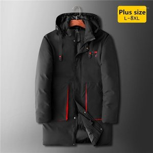 Baidafei Oversized 8xl 7xl 2020 Inverno Quente Casual Homens grossos Parkas Com Capuz Loose Big Bolsos De Seda-Like Cotton Men Coat1