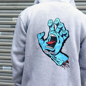 Nouvelle marque de SANTA CRUZ habillements mode fantômes empreintes vague vestes de hoodies cardigan de haute qualité pour les hommes et les femmes