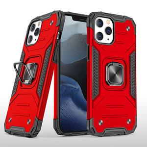 Per iPhone 12 mini 11 Pro XS Phone Case antiurto Max XR Samsung A21 A11 S20 Cavalletto robusta armatura di protezione goccia anello Staffa