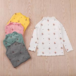 2020 Automne Hiver enfants Vêtements pour enfants à manches longues T-shirt mignon de filles talonnage Shirt Top Impression Vêtements de bébé M2923