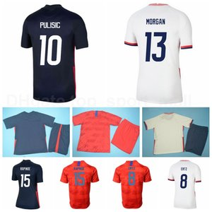 Équipe nationale Football Christian Pulisic Jersey Alex Morgan Lloyd Ertz Rapinoe Yedlin Zardes Arriola Dunn Football Shirt Navy Rouge Blanc M-G