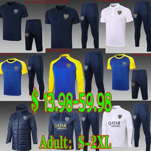 2020 2021 Maradona Boca Juniors Fussball Jersey Trainingsanzüge Sets Erwachsene Männer Winterjacken Baumwoll-gepolsterte Kleidung Camisetas Pullover Training Polo