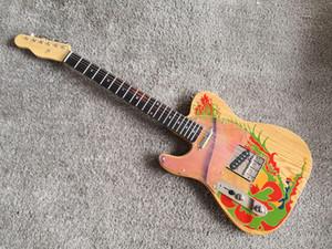 Mancino Custom Shop Masterbuilt Jimmy Page Drago chitarra elettrica naturale w / Artwork Chna chitarra Signature