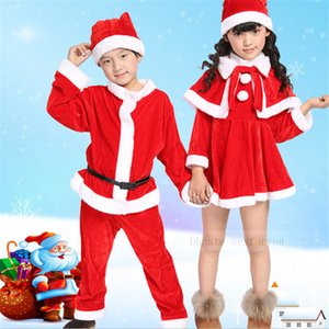 Children's Clothing Set Christmas Santa Claus Suit Christmas Costume Suit Baby Boy Girl 3PCS Kids New Year