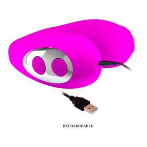 Jolie Vibrator Love Oral-7 fonction Vibrant Produits de sexe pour les femmes Homme USB étanche Recharge Silicine Sextoys pour Couples