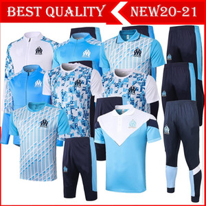New 2020 2021 adult kit Long sleeves Marseilles jacket uniforms tracksuits soccer jersey 20 21 train football coat training suit