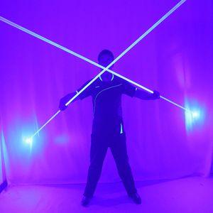 Mini doppio Direzione spada laser blu per Man Laser Show Doppio intitolato Wide Beam rosso e verde Pedale Laser Show Props
