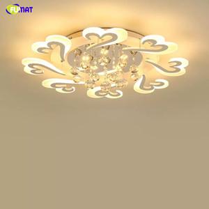غرفة المعيشة FUMAT كريستال بقيادة الثريا الحديثة مصباح غرفة نوم ومطبخ داخلي الإضاءة ديكور المنزل ضوء مصباح معدن أبيض رونق