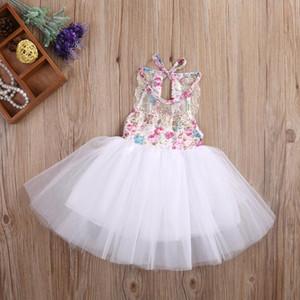 Nouveau-né bébé filles tutu robe dentelle fleur fête mariage anniversaire robe tulle pour bébé filles été bébé jllwzd