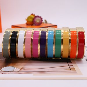Enamel Rainbow Woman Bracelet Fashion Bracelets for Man Women Jewelry Bracelet Jewelry 11 Color Optional with BOX