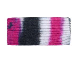 Tie Dye Color Headband Knitting Woolen Headbands Ponytail Holder Hair Bands Gradient Crochet Headwraps Women Turban Wide Headwear YYS2710