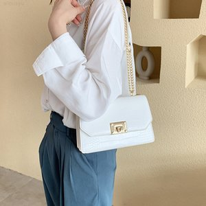 Tide Women's C One K Shoulder Korean Versatile 2020 New Fashion Crocodile Square Small Chain Bag Messenger Hakin