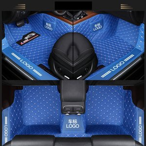 Custom Fit Car Floor Mats Specific Waterproof PU Leather ECO friendly Material For Vast of Car Model and Make 3 Pieces Full set With Logo 02