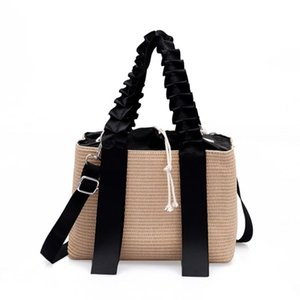 Straw Beach Craft Bag New Bag Calidad MANUAL MANUAL Hombro Hombro Hombro String High Tassel Tejido Mujeres Papel Totes Moda Jxbjk