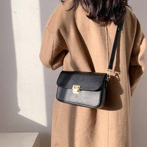 Koreanische mode einfache pu leder kleine tasche für frauen 2021 designer damen umhängetasche tägliche büro mädchen crossbody balck