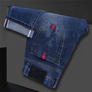 Diseñador para hombre jeans lujo sólido clásico slim-pierna jeans ajustado apto azul biker denim hombre de moda diseñador de moda jeans de calidad superior W29-W38