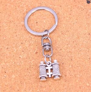 Moda portachiavi 14 * 15 * 3mm bifacciali pendenti del telescopio Gioielli fai da te catena chiave dell'automobile Anello porta Souvenir per regalo