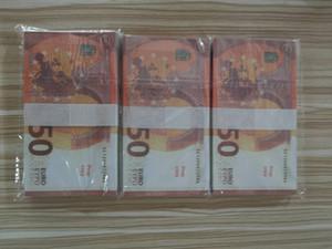 Usine simulation de vente directe factures Euro props billets bricolage accessoires pour enfants pièces de jeu accessoires de jeu Euro projets de loi