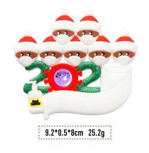 Nouveau Festive jardin Décor de Noël pour la maison Ornement personnalisé Survécu famille d'ornement 2020 LED de vacances Lumière de Noël