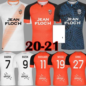 Top 20 21 Maillots FC Lorient Soccer Jerseys Accueil 2020 2021 Maillot de pied Lorient Hergault Hergault Bozok Le Fee GRBIC #Football Chemises