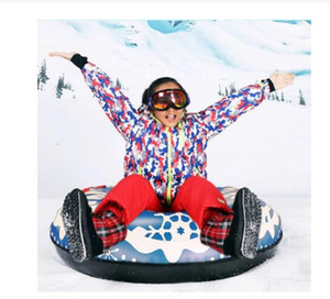 120CM Floated Skiing Board Winter Inflatable PVC Ski Circle With Handle Children Adult Outdoor Snow Tube Skiing Accessories 2020