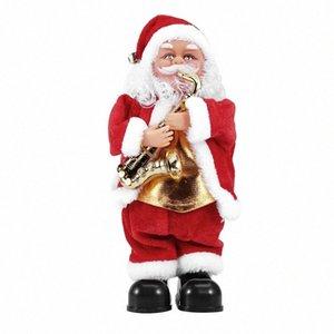 Bmby-Creative Christmas Electric Drumming Santa Claus Singing Dancing Doll Juguete Año Nuevo Regalo para niños Juguete Navidad Navidad Decoración de Navidad R1ln #