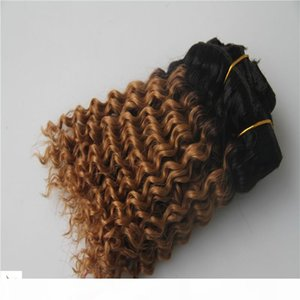 Новый T1B стиля 27 Ombre Цвет девственница бразильского глубокой волна выдвижение волос 100% бразильского Remy Human Hair Weave 6a Double Уток волос