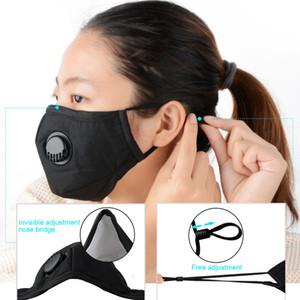 Máscaras Anti-polvo Alergias de gas de humo Ajustable y reutilizable Proteject Cción con 2 filtros para mujeres Hombre adulto negro HWC3077