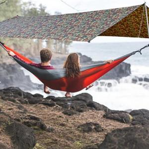 10 x 10ft Awning Sun Shelter Beach Outdoor Camping Garden Sun Awning Canopy Sunshade Hammock Rain Tarp Waterproof Tent Shade