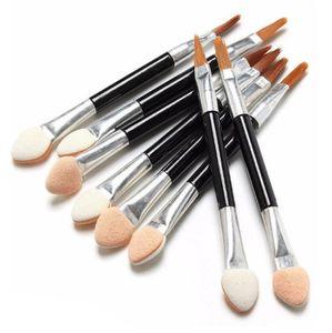 5000Pcs lot New Sponge Stick Eye Shadow Applicator Cosmetic Makeup Tools Double-head Eyeshadow Brush Lip brushes