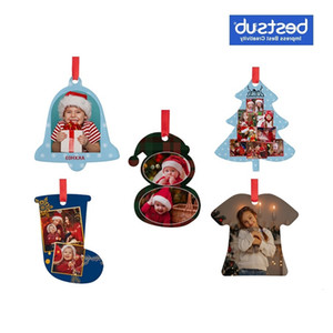 Bestsub Wholesale Custom Sublimation Blanks Other Home Acrylic Ornaments Gift Christmas Tree Decoration Supplies