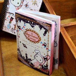 Circo sentimental del kawaii libreta / nota / 6 veces pegajosa de la nota del cojín del cuaderno al por menor Honc #