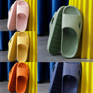 rL1 pre-fall womens rubber home slipper hollowed-out pattern sports pool fashion slide sandals girls flats high quality slippers with box