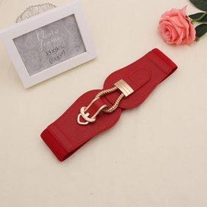 Donne da donna ragazze moda larghezza vita fascia grande fibbia in pelle PU cummerbunds per abito maglione elastici cinture elastiche cintura elastica