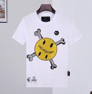 2020 أزياء العلامة التجارية الجديدة الرجال PP في القصير الأكمام تي شيرت الساخن إلكتروني الماس فيليب الرجال بالاضافة الى حجم ضئيلة نصف كم رجال قميص T