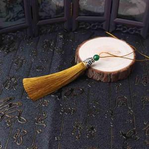 12pcs Lot Jade Alloycap Bead Bead Silk Fringe Bangs Flower Borla Garment Decorativo para Cortinas Casa Decoração Acessórios H JLlyGV