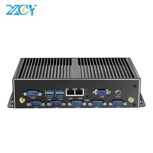 Xcy Fanless Mini PC Dual Gigabit Ethernet LAN 6 * COMB Ports Mini Ordinateur Intel Core 4200U Industrial Linux Micro MiniPC Box