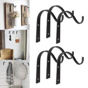 Recentemente 10 pçs / 20 pcs ganchos de parede do gancho de ferro para pendurar lanterna lanterna casaco rústico casa decoração xsd881