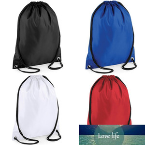 1PCNew Waterproof Nylon Storage Bags Drawstring Backpack Baby Kids Toys Travel Shoes Laundry Lingerie Makeup Pouch 6 Colors