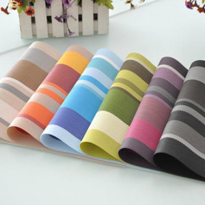 Fashion Stripe Table Mat Square Placemat Non-slip Bowl Mat Insulation Heat Pad Anti-scalding Cup Holder Kitchen Accessory Tool