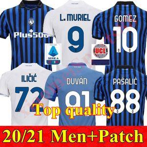 Аталанта футбол Джерси 20 21 GOMEZ L.MURIEL Ilicic 2020 2021 pasalic футбола рубашка New HOME AWAY ТРЕТЬЕГО MEN DE Рун DUVAN равномерного