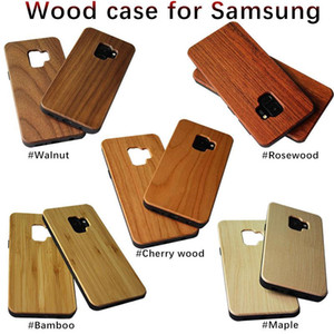Wooden Phone Case for Samsung Galaxy S9 Plus S20 Ultra Note 9 S10 Lite Shockproof Soft TPU Wood 2 in 1 Phone Cover
